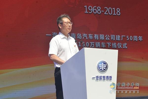 一汽集团总经理助理兼一汽解放事业本部本部长、党委书记胡汉杰