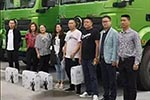 陕汽抢占川蜀市场  现场签约40辆新M3000渣土车