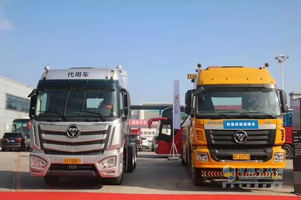 欧曼针对客户服务配备的救援清障车和代用车