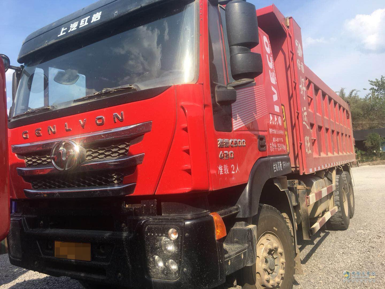 9个月红岩杰狮430匹马力自卸车带费用出售