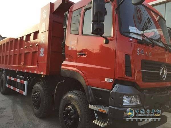 新疆恒信:东风天龙KC重卡 8X4 7.6米自卸车享现金优惠