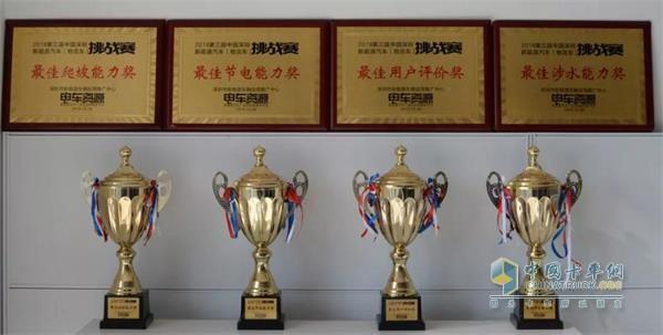 徐工E300摘得最佳爬坡奖、最佳涉水奖、最佳节电奖与用户评价奖四项重量级大奖