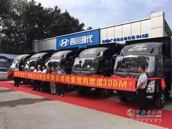 广州易方达物流有限公司批量增购致道300M