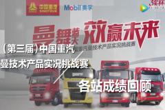 第三届中国重汽曼技术产品实况挑战赛 各站战绩回顾