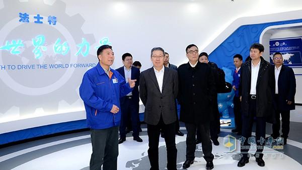 一汽解放董事长胡汉杰访问法士特 或将发展进一步合作