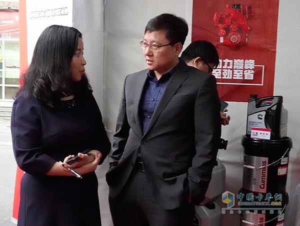 东风康明斯王春光总与百世集团总裁郭蕾谈服务