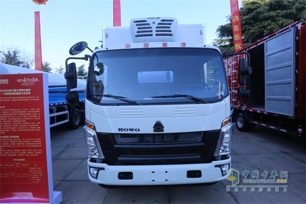 中国重汽豪沃轻卡悍将国六冷藏车