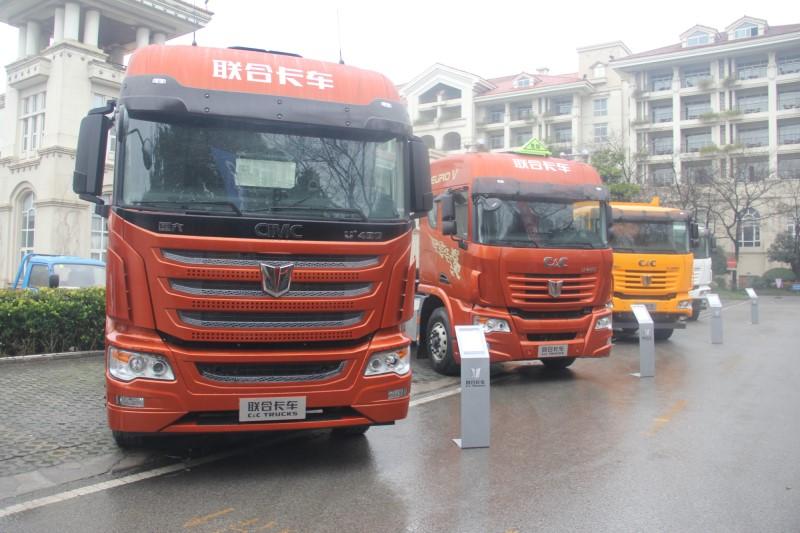 联合卡车2019年度商务年会场外展车