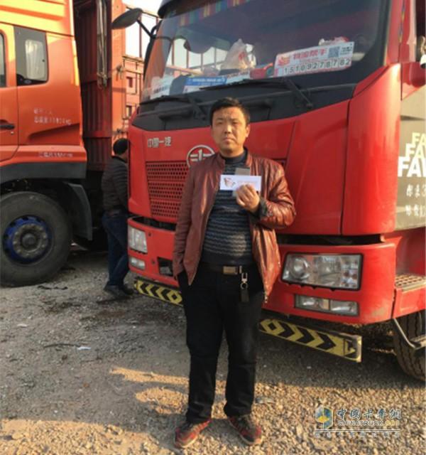 薛鹏刚接受中国卡车网采访