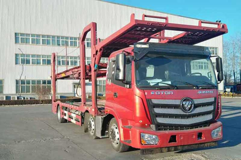 福田戴姆勒 欧曼新ETX 6系重卡 320马力 6X2 车辆运输车
