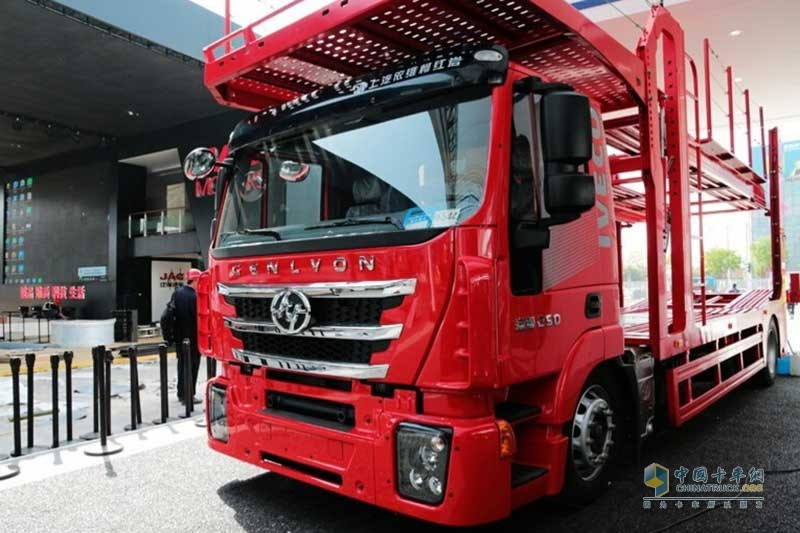 上汽红岩 杰狮M500 320马力 4X2 中置轴轿运车(CQ5186TCLHMVG681)