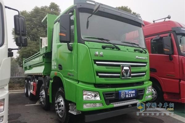徐工2019年度商务大会上展出的徐工漢風G7自卸车