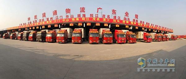 乾坤导通物流公司经营着260辆解放卡车