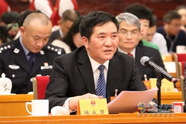 江苏省交通运输厅厅长、党组书记兼省铁路办公室主任陆永泉