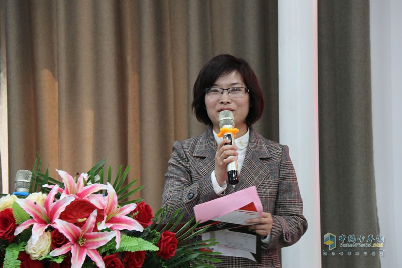 河南长兴汽车有限公司总经理朱春应女士