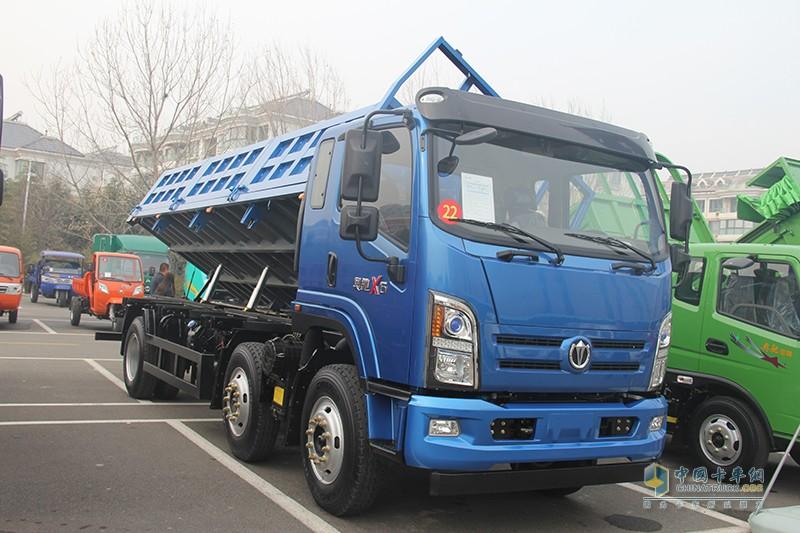 奥驰汽车 X系 220马力 6×4 侧翻斗自卸车