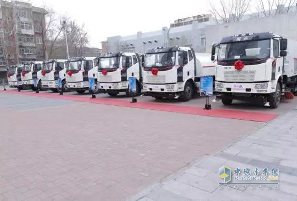 一汽解放J6L环卫车天津展示车辆