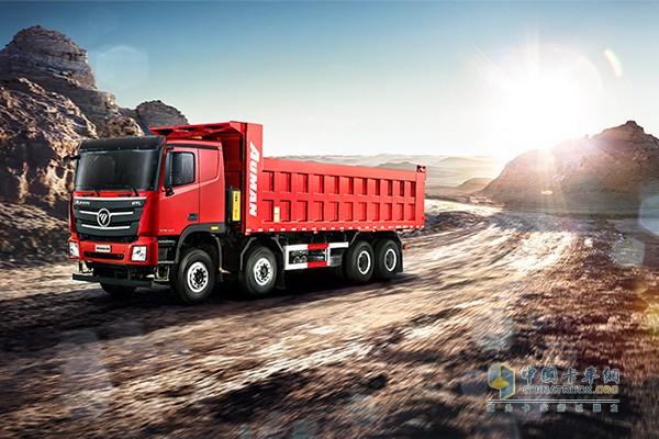 福田戴姆勒欧曼GTL 490马力 8×4公路运输自卸车