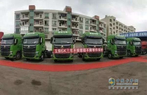 搭载玉柴6K13N的乘龙H7 LNG牵引车