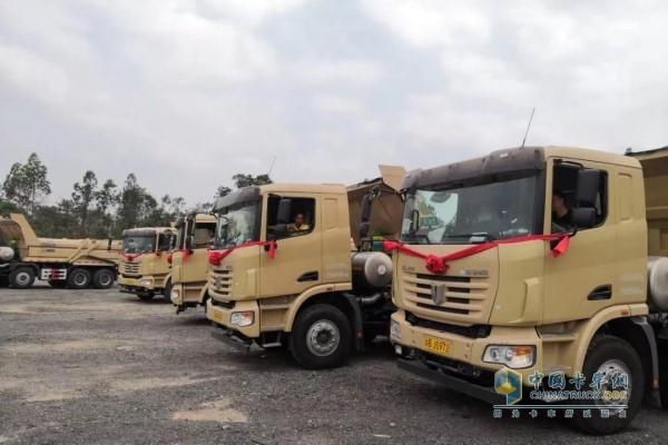 中集联合卡车新型环保智能渣土车