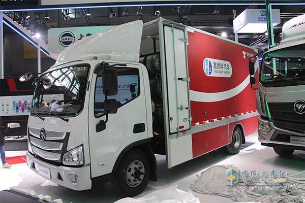 欧马氢燃料箱式载货车