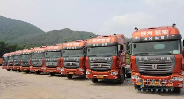 中集联合卡车LNG港拖车