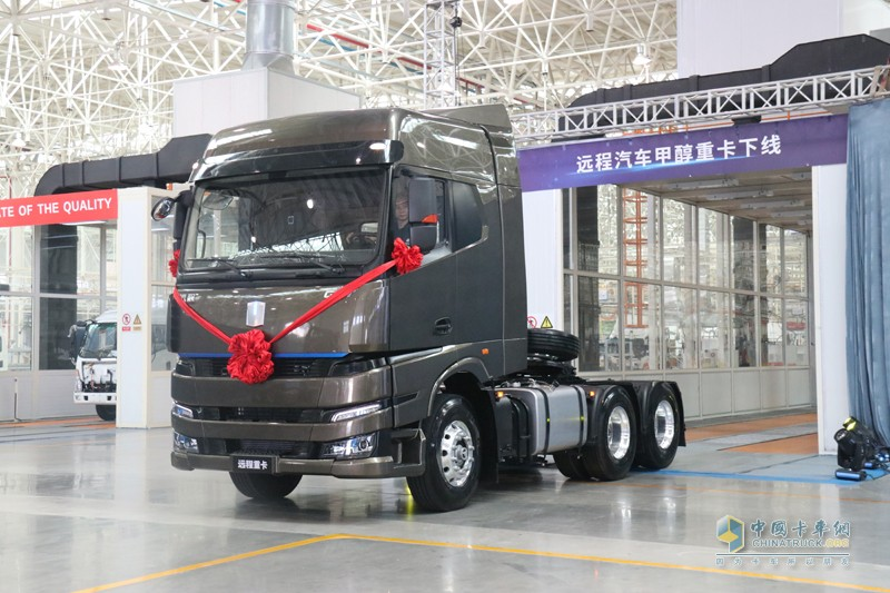售价35.3万起 远程汽车首款M100甲醇重卡上市
