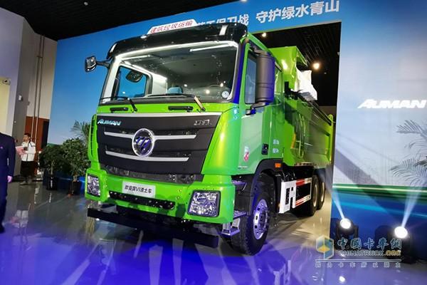 欧曼GTL2019款国六智能渣土车
