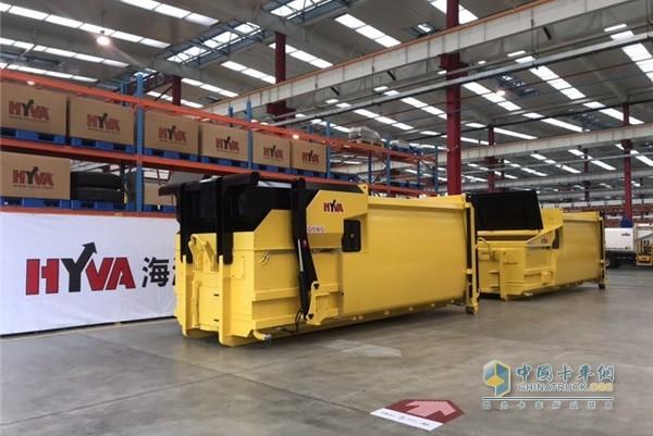 海沃X系列移动式垃圾压缩设备