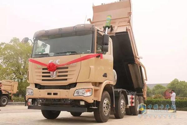 中集联合卡车LNG城市智能环保渣土车