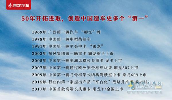 """东风柳汽历经50载创造中国造车史上的多个""""第一"""""""