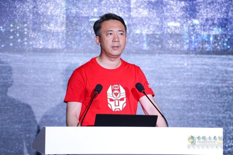 福田汽车集团品牌副总裁、福田戴姆勒营销公司品牌战略总监李健先生致辞