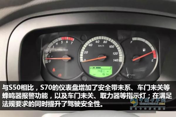 小福星国六S70仪表盘