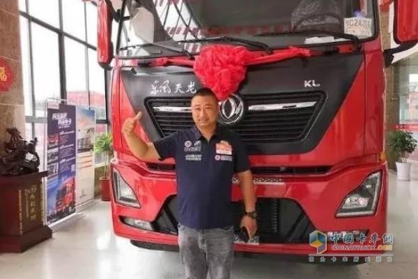 东风天龙中国卡车驾驶员大赛江苏盐城站选手朱文来