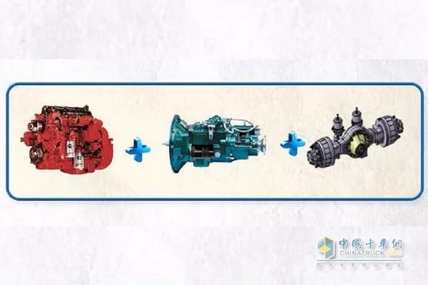 瑞沃ES3采用福康发动机+法士特变速箱+等高齿主减后桥