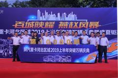"""""""百城陕耀 燕赵风暴""""陕汽重卡河北区域2019上半年突破万辆"""