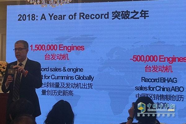 2018年康明斯全球销量达150万台,仅中国一个国家就销售了50万台