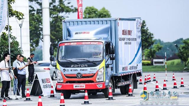 福田奥铃速运展示漂移技术