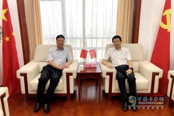 陕西省副省长会见法士特董事长严鉴铂