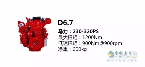 D6.7发动机参数