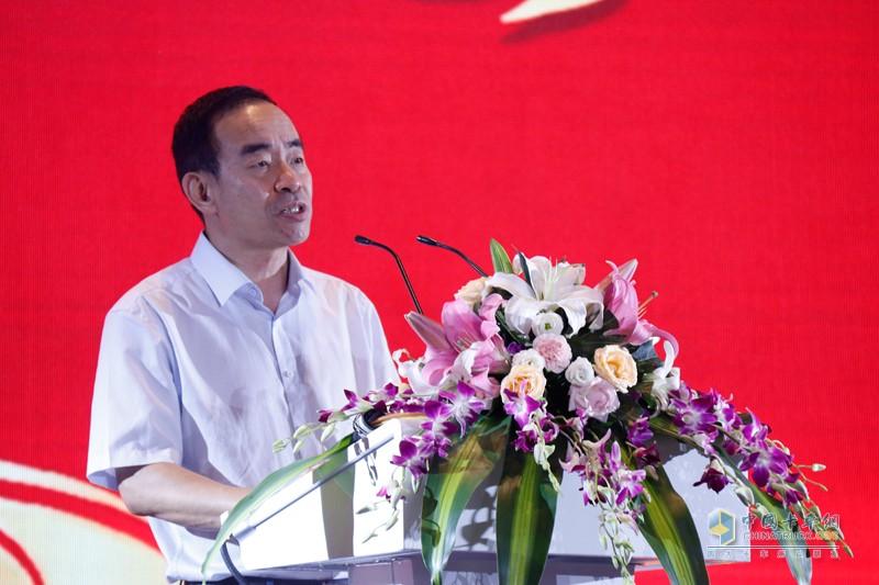 行业专家,中国物流与采购联合会物流装备专业委员会主任马增荣致辞