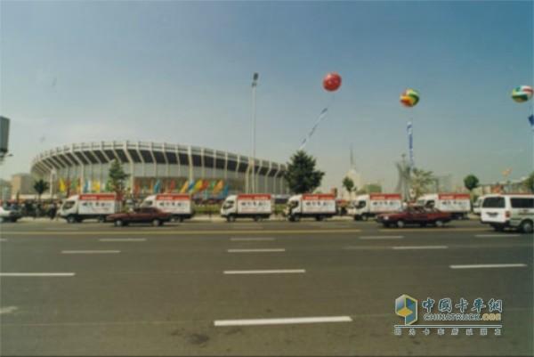 2002年东风轻卡被授予世界杯足球赛亚洲十强中国队专用车