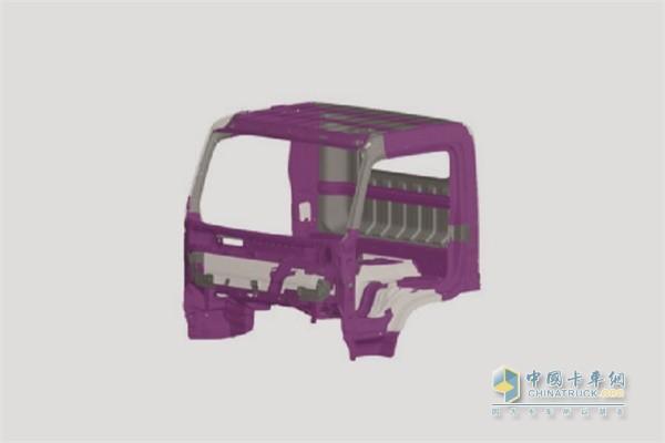 盛图城配版车身及驾驶室采用进口的高张力钢质材料