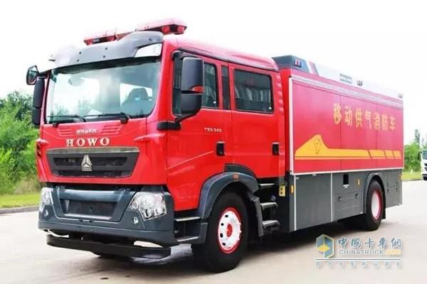 中国重汽移动供气消防车