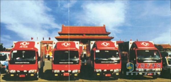 中国体育代表团唯一专用卡车东风小霸王