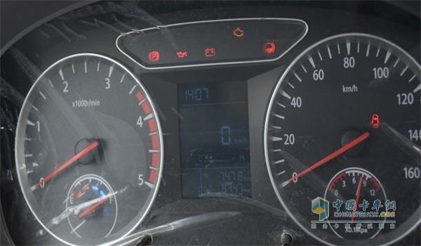 三个多月来,邱作田的这辆福田时代M3跑了9747公里