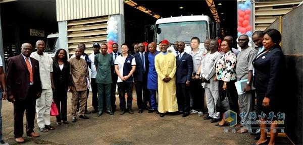 东风商用车在尼日利亚首批CKD组装下线