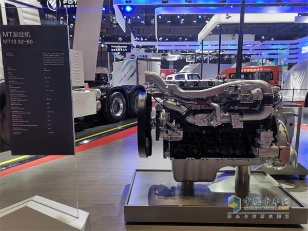 上海车展亮相的中国重汽MT13.52-60发动机