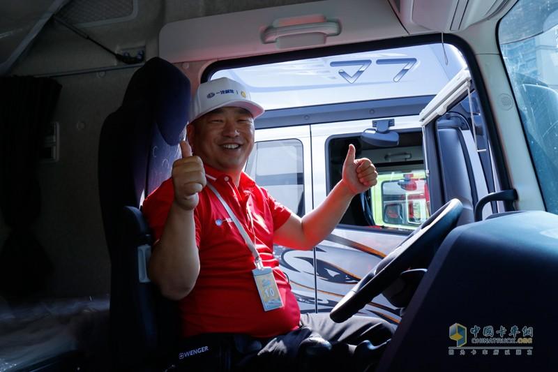 选手赵泽禄为解放J7点赞,为比赛点赞!