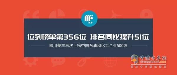 四川美丰上榜该榜单,位列榜单第356位